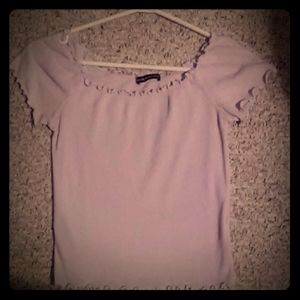 Brandy Melville off the shoulder purple top